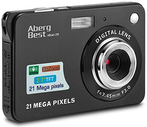 "1 AbergBest 21 Mega Pixels 2.7"" LCD Rechargeable HD Digital Camera"