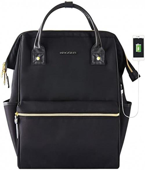 1. KROSER Laptop Backpack 15.6 Inch Stylish School Computer Backpack Casual Daypack Laptop Bag