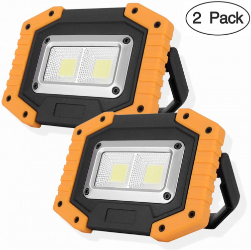 1. OTYTY 2 COB LED 30W 1500L Rechargeable Work Light (2-pack)