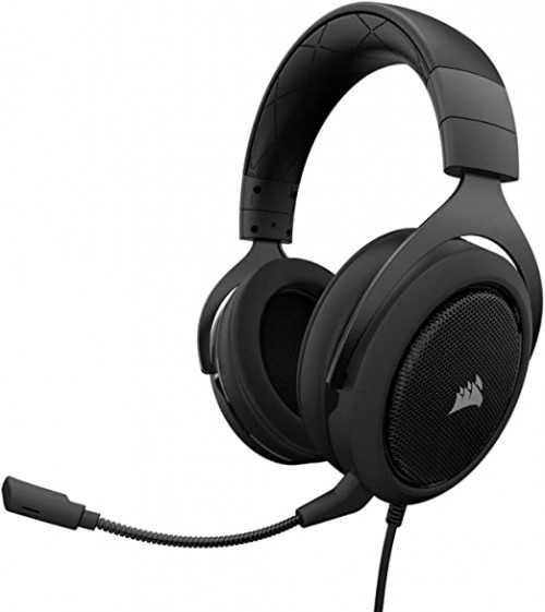 10 CORSAIR HS50 - Stereo Gaming Headset - Discord Certified Headphones - Works with PC