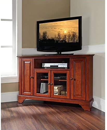 "# 10 - Pemberly Row 48"" Corner TV Stand in Classic Cherry"