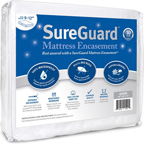 10. Queen (9-12 in.Deep) SureGuard Mattress Encasement