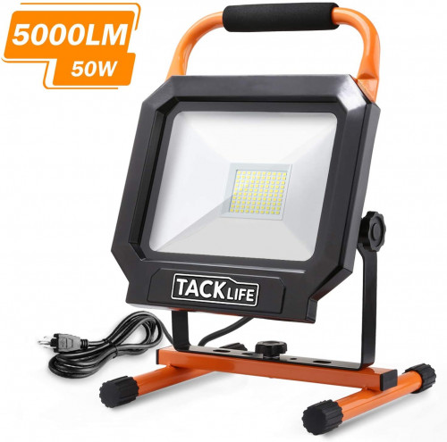 10. TACKlife 5000LM 50W LED Work Light