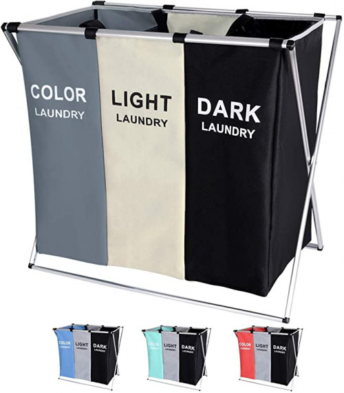 11. BRIGHTSHOW 135L Laundry Cloth Hamper