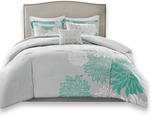 11. Comfort Spaces Enya 5 Piece Comforter Set Ultra Soft Hypoallergenic Microfiber Floral Print Bedding, Full