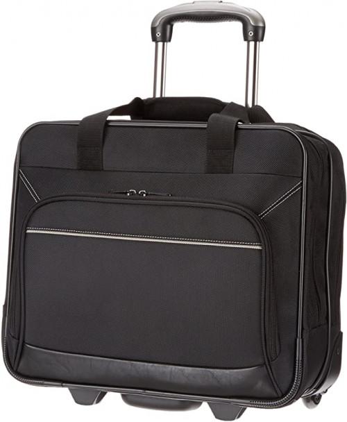 12. AmazonBasics Rolling Bag Laptop Computer Case