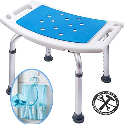13 Medicare Shower Stool with Padded Seat