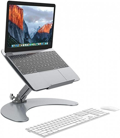 13 - SLYPNOS Height-and-Angle Adjustable Aluminum Laptop Stand
