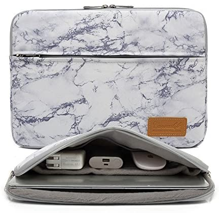 "14. Canvaslife Marble Pattern 15 Case 15"" and 15.6 Bag 360 Degree Waterproof Laptop Sleeve Bag"