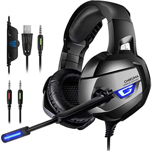 2 PS4 Gaming Headset - ONIKUMA Gaming Headset with 7.1 Surround Sound