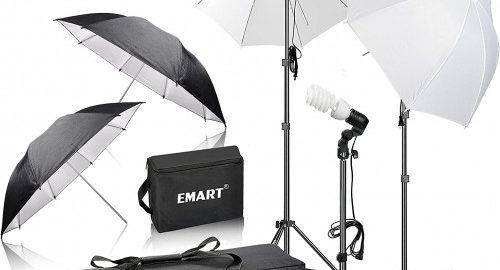 2. Emart 600W Photography Portrait Studio Day Light kit