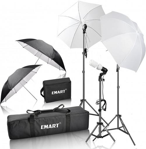 2. Emart 600W Photography Portrait Studio Day Light kit