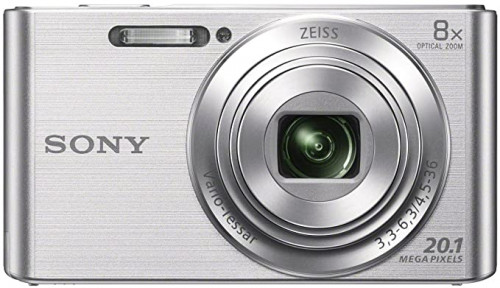 2. Sony DSCW830 20.1 MP Digital Camera with 2.7-Inch LCD (Silver)