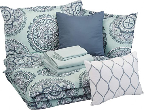 3. AmazonBasics 10-Piece Comforter Bedding Set