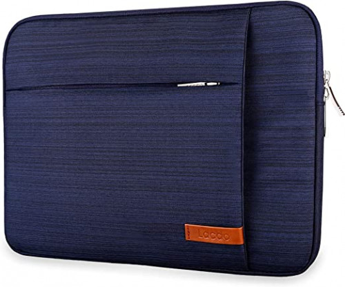 3. Lacdo 15.6 Inch Blue Water Resistant Laptop Sleeve Case
