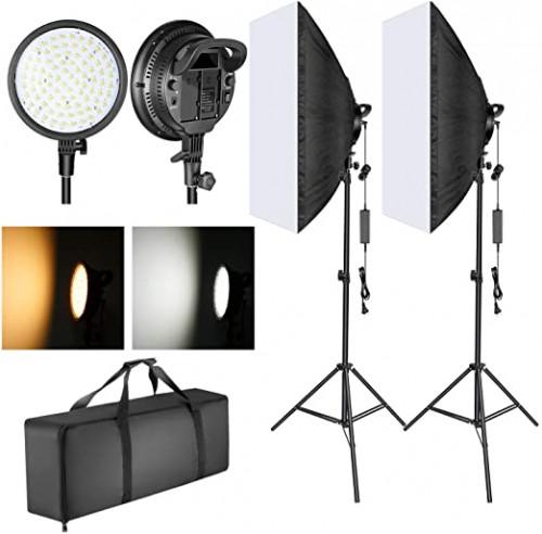 3. Neewer LED Softbox Lighting Kit