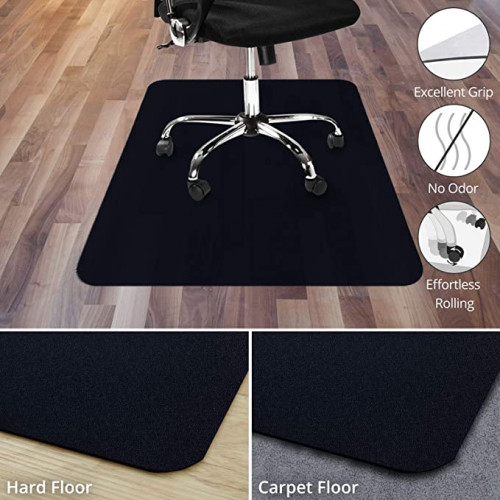 3. Office Marshal Black Office Chair Mat - 30 x 48