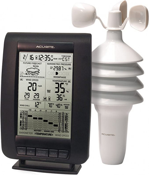 AcuRite 00634A3 Wireless Weather Station with Wind Sensor