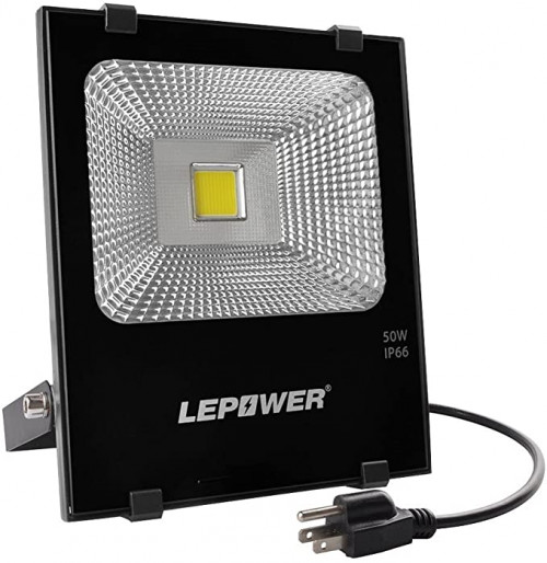 4. LEPOWER 50W LED Flood Light Outdoor