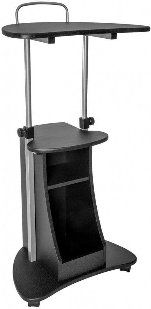 # 5 - Techni Mobili Sit-to-Stand Rolling Adjustable Height Laptop Cart