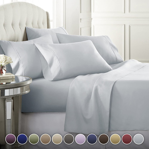 5. 6 Piece Hotel Luxury Soft 1800 Series Premium Bed Sheets Set