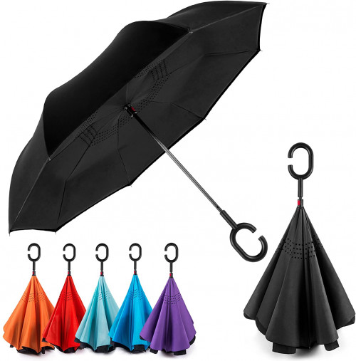 5. EEZ-Y Reverse Inverted Windproof Umbrella