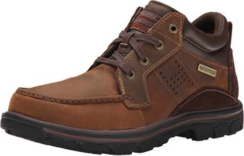 5. Skechers Men's Segment Melego Leather Chukka Waterproof Boot