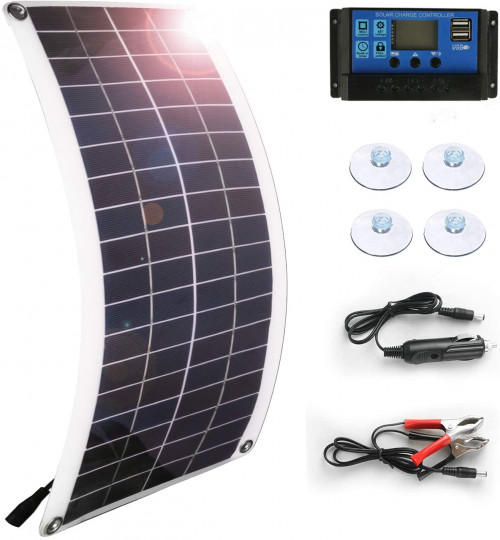 5. Solar Panel 40W Car Battery Charger