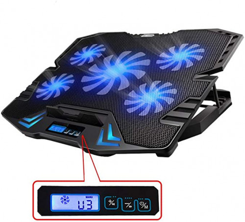 5.TopMate C5 12-15.6 inch Gaming Laptop Cooler Cooling Pad