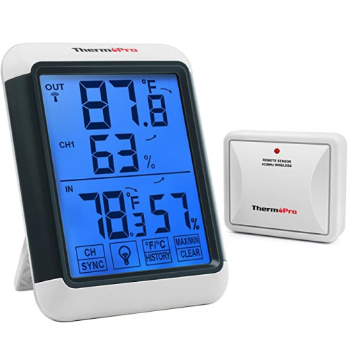 ThermoPro TP65A Indoor Outdoor Thermometer Digital Wireless