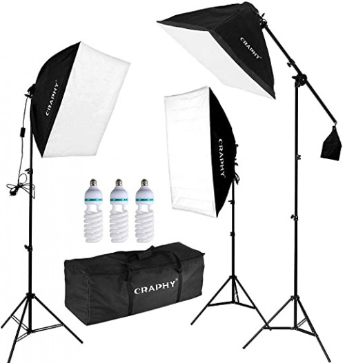7. CRAPHY Professional Continuous Lighting Kit