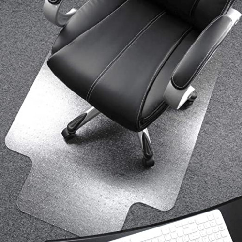 "7. Floortex Polycarbonate Chair Mat with Lip 48"" x 53"" for Plush Pile Carpets"