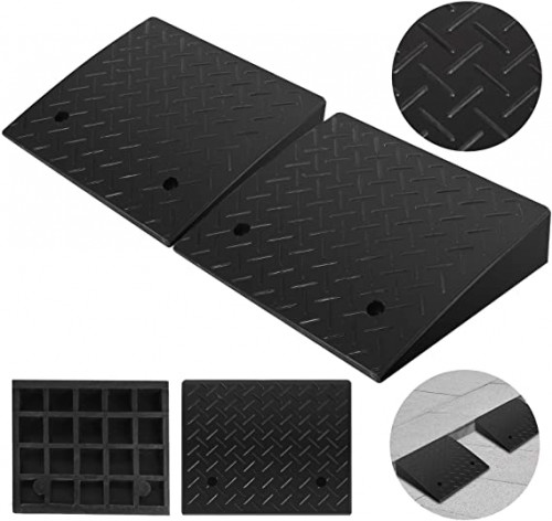 7. Mophorn 2 Pack Rubber Curb Ramp