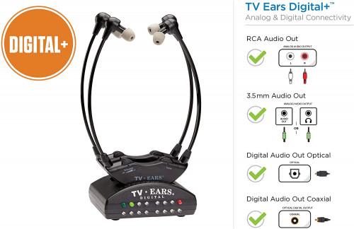 7. TV Ears Dual Digital Wireless Headset System