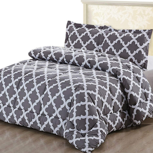 7. Utopia Bedding Printed Comforter Set