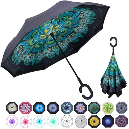7. WASING Double Layer Inverted Umbrella