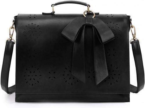 7. ECOSUSI Women's Briefcase Vegan Leather 15.6 inch Laptop Bag