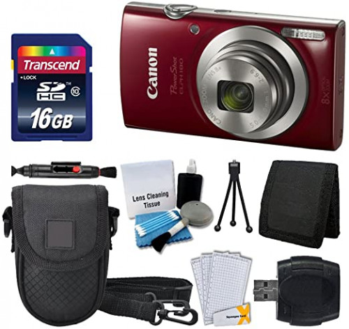 8. Canon PowerShot ELPH 180 Digital Camera