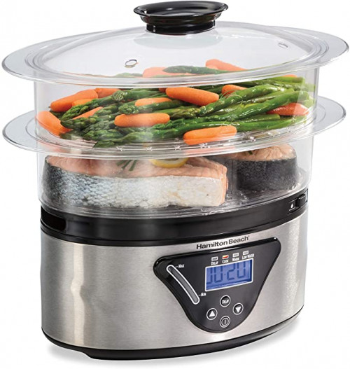 8. Hamilton Beach 37530A Digital Food Steamer