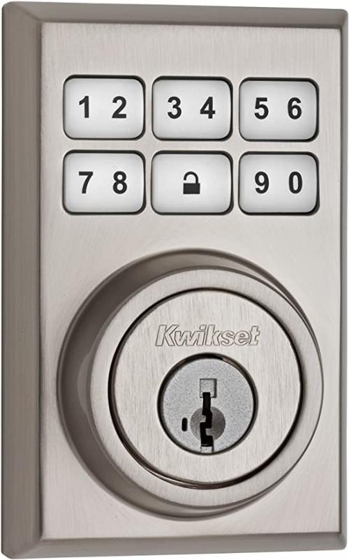 8. Kwikset 99090-020 Smart Code Electronic Deadbolt