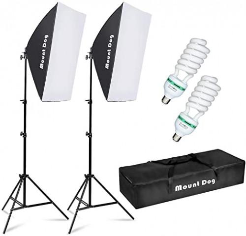8. MOUNTDOG Softbox Lighting Kit