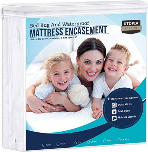 8. Utopia Bedding Zippered Mattress Encasement