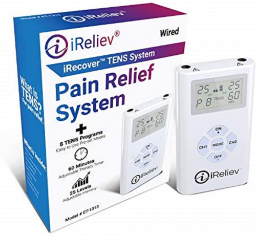 8. iReliev TENS Unit Electronic Pulse Massager
