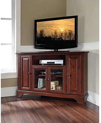 "# 9 - Pemberly Row 48"" Corner TV Stand in Vintage Mahogany"