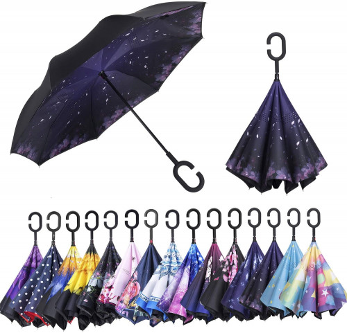 9. AmaGo Double Layer Inverted Umbrella