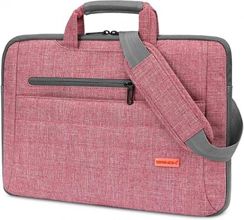 9. BRINCH Laptop Bag for Women Slim Light Business Briefcase Shoulder Messenger Bag