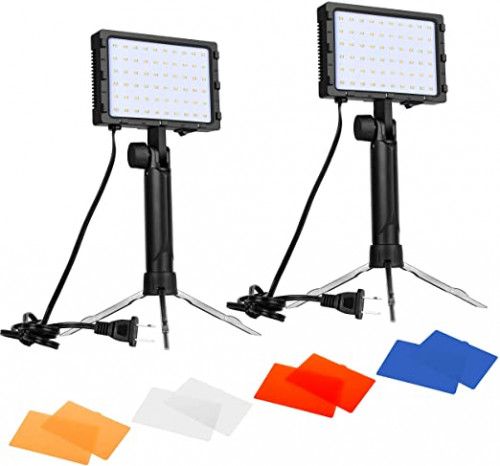 9. Emart 60 LED Continuous Portable Photography Lighting Kit