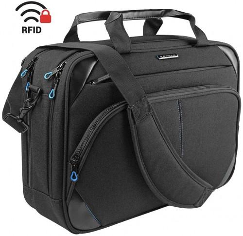 9. KROSER Laptop Bag 15.6 Inch Laptop Briefcase Laptop Messenger Bag