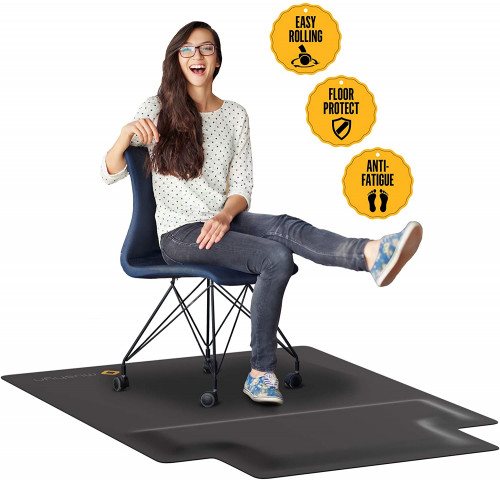 9. Office Chair Mat with Anti Fatigue Cushioned Foam - Chair Mat