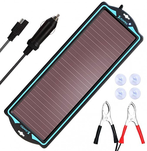 9. SUNAPEX 12V Solar trickle Charger